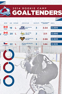 Colorado Avalanche 2014 Rookie Camp Goalies Infographic Thumb