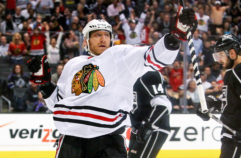 hossa celebration