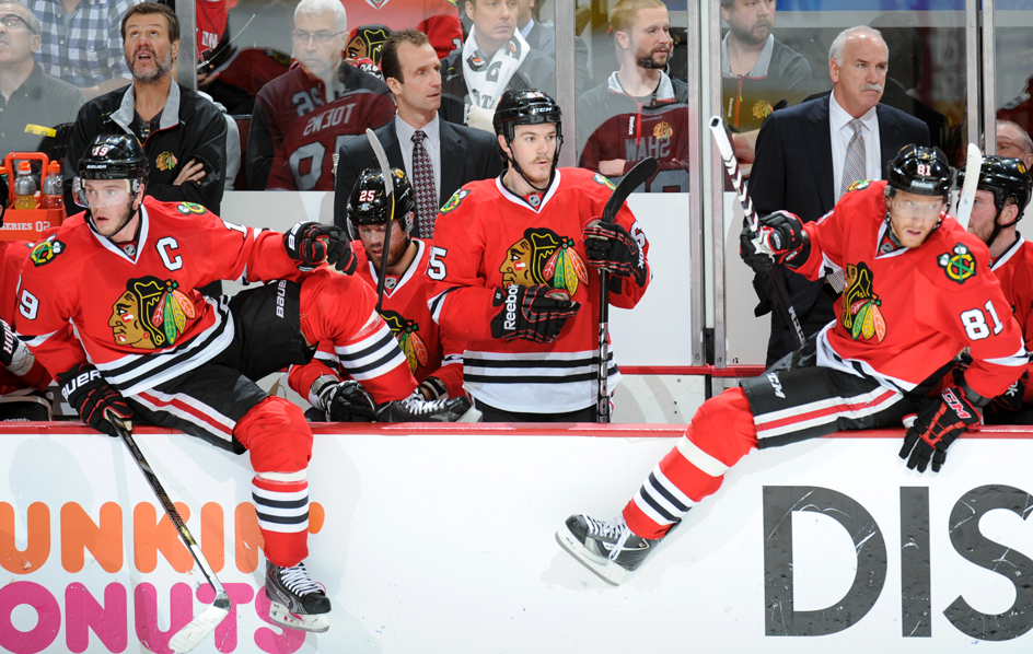 toews and hossa hopping out