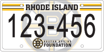 Bruins Foundation License Plate