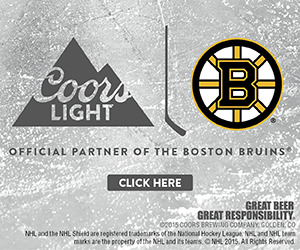 Coors Light - Official Partner of the Boston Bruins