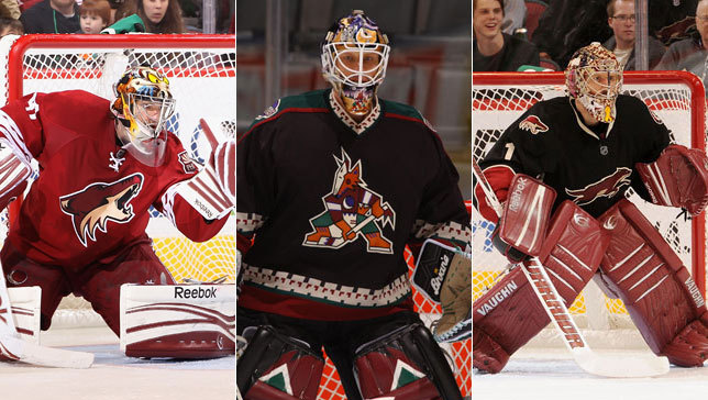 Smith Coyotes Goalie Goalies Mike Smith