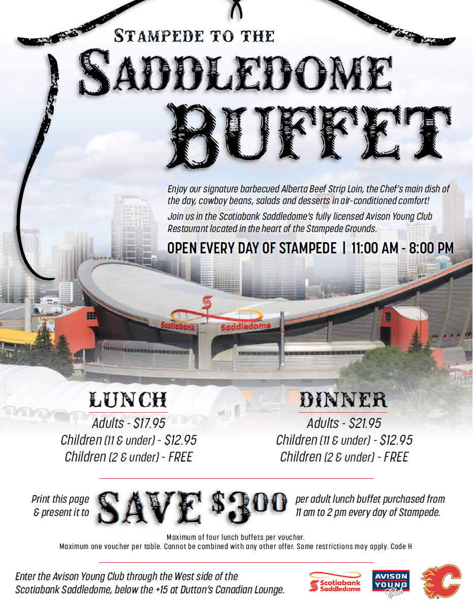 Stampede to the Saddledome Buffet