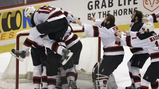 Mike Rupp, Devils celebrate winning the 2003 Stanley Cup Final