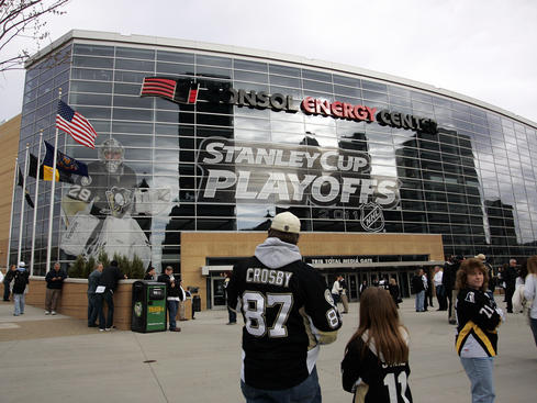 PITTSBURGH, PA - APRIL 13: An exterior view of Consol Energy Center before Game One of the Eastern Conference Quarterfinals during the 2011 NHL Stanley Cup Playoffs between the Pittsburgh Penguins and the Tampa Bay Lightning at Consol Energy Center on April 13, 2011 in Pittsburgh, Pennsylvania. (Photo by Justin K. Aller/Getty Images)
