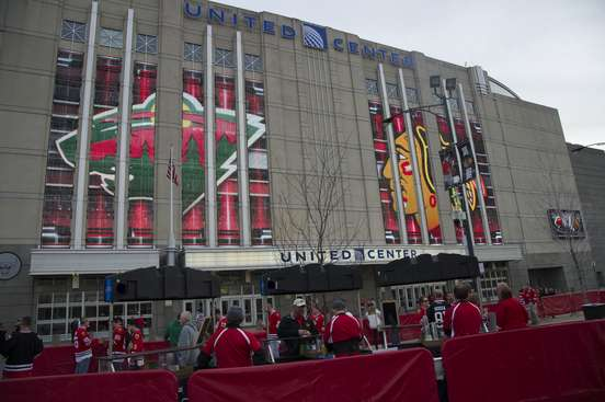 CHICAGO, IL - MAY 01:  A view of the United Center prior to Game One of the Western Conference Semifinals between the Minnesota Wild and the Chicago Blackhawks during the 2015 NHL Stanley Cup Playoffs at the United Center on May 1, 2015 in Chicago, Illinois.  (Photo by Bill Smith/NHLI via Getty Images)