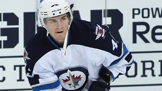 Mark Scheifele with the Winnipeg Jets