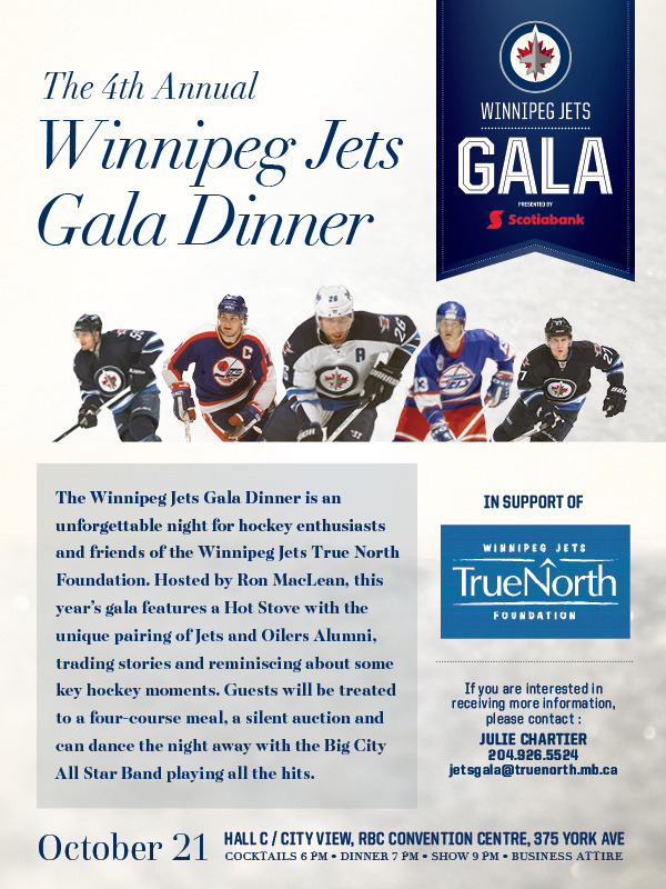 Winnipeg Jets Gala - Save the Date