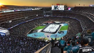 Architectural rendering of 2015 NHL Stadium Series at Levi's Stadium. (Courtesy: Populous)