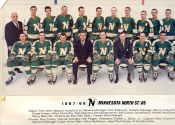The inaugural Minnesota North Stars team in 1967