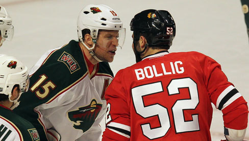 Dany Heatley and Brandon Bollig
